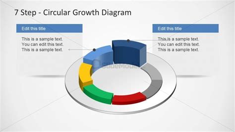 4 step circular growth diagram for powerpoint slidemodel 6233 07 7step circular growth diagrams 3 slidemodel