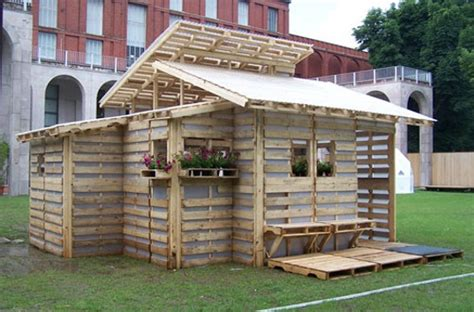 Home Interior Nativity by Eco Emergency Shelter Built Entirely From Shipping Pallets