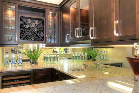mirror glass backsplash ideas   kitchen