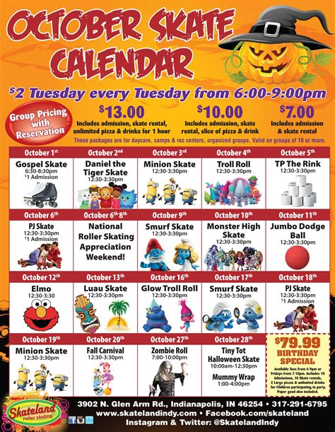 Indianapolis Events Calendar Special Events Indianapolis In Skateland