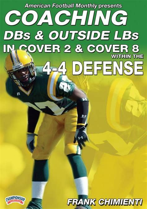 coaching football s 50 defense coaching dbs and outside lbs in cover 2 cover 8 defense