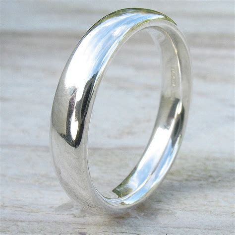 handmade comfort fit silver ring by lilia nash jewellery