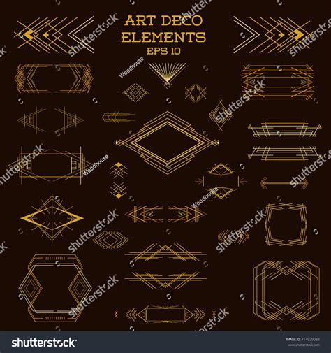 art deco design elements vector art deco frame vintage design elements stock vector
