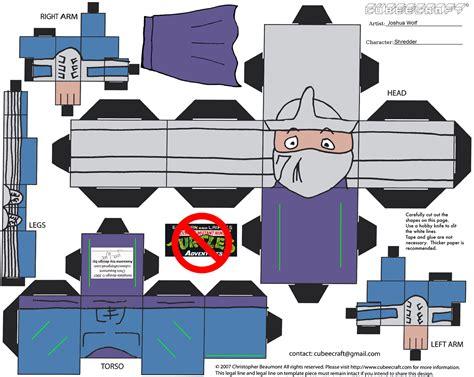 Tmnt Papercraft - mutant turtles adventures mighty