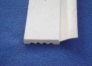Garage door stop pvc trim moldings white pvc garage door weather