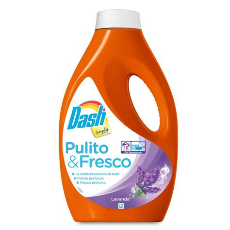 fresco simple liquido lavatrice simply lavanda 18 lavaggi 990ml dash d