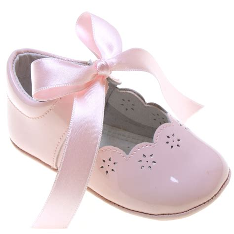 baby shoes for baby baby pink patent leather shoes with ribbons
