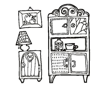 coloring pages furniture house living room furniture coloring page coloringcrew com