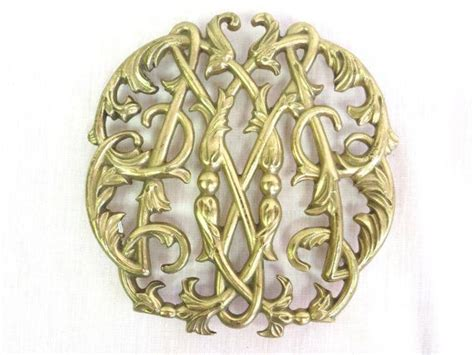 vintage brass trivet colonial williamsburg trivet by