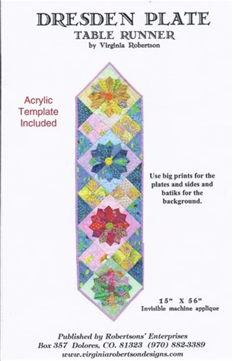 how to make a dresden plate template dresden plate table runner pattern