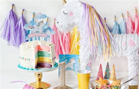 como decorar un pastel de unicornio en casa ideas para decorar una infantil de unicornios fiestas