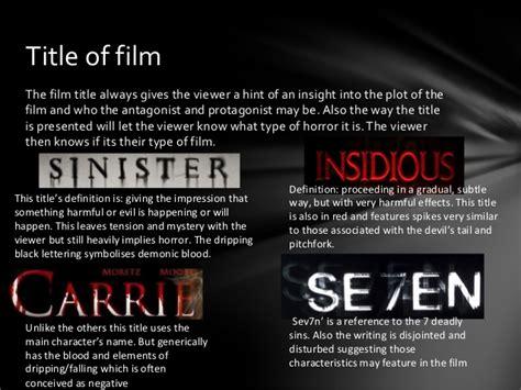 ghost film titles horror movie analysis of editing