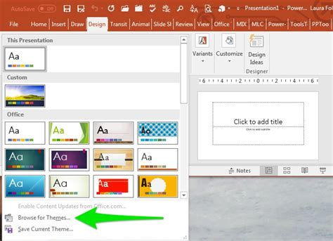 themes for windows 7 microsoft powerpoint powerpoint templates and office themes explained laura m