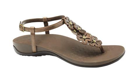 orthaheels sandals vionic julie s orthaheel sandals bronze