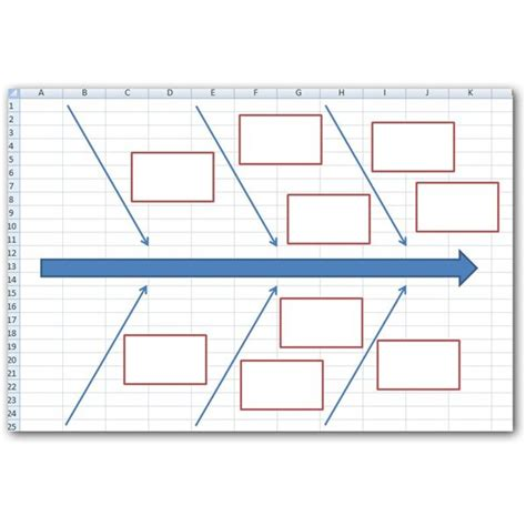 fishbone diagram excel how to create a fishbone diagram in microsoft excel 2007