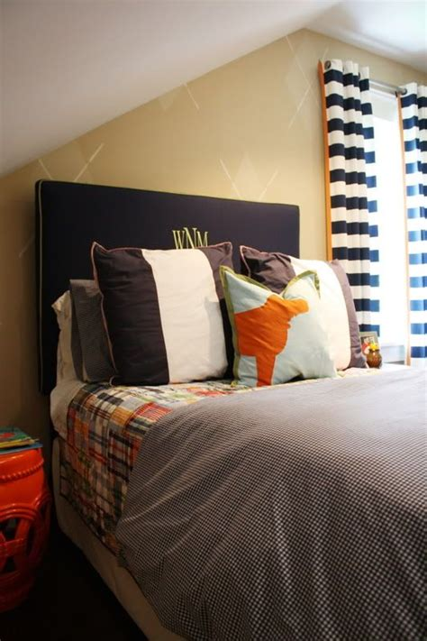 bedroom curtains for boys love the striped curtains and madras plaid bedding for the