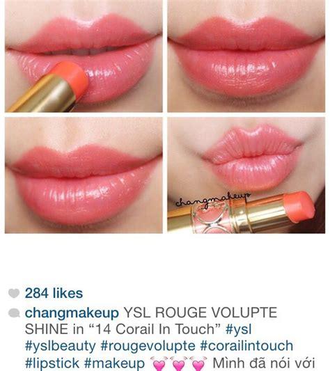 Ysl Volupte Shine 14 Corail In Touch Ysl Volupte Shine In 14 Corail In Touch Make Up