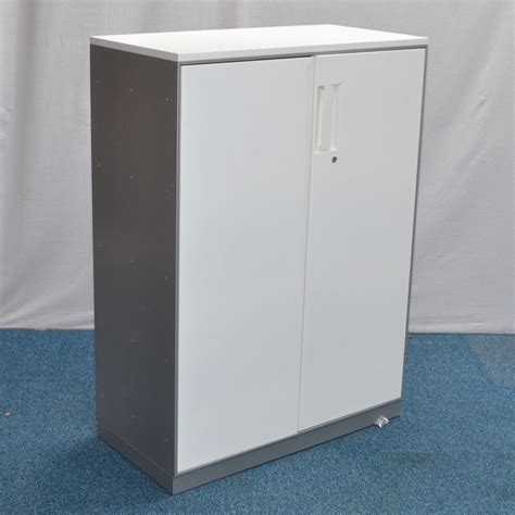 Silver Cabinet by Silver White 1250h Storage Cabinet