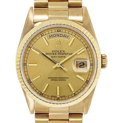 golden rolex rolex presidential day date 18238 18k yellow gold watch