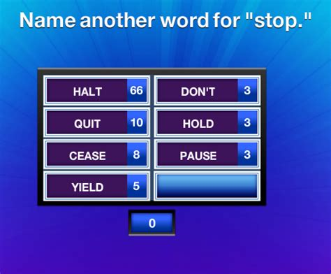 another name for name another word for stop family feud guide