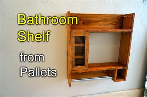 bathroom shaving shelf from pallet wood diy fyi