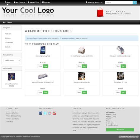 oscommerce responsive template images templates design ideas