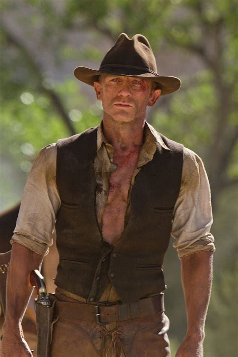 aliens and the west aliens daniel craig geniune leather vest the cowboys and