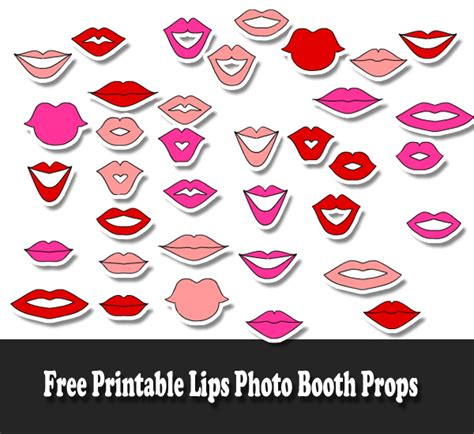 printable photo booth props lips free printable lips photo booth props