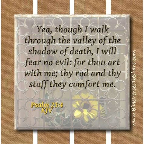bible verse for comfort and strength kjv quot yea though i walk through the valley of the shadow of