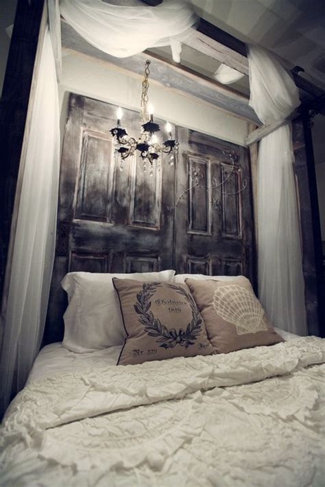 Headboard Door by 16 Doors Used As Dramatic Headboard Decoholic