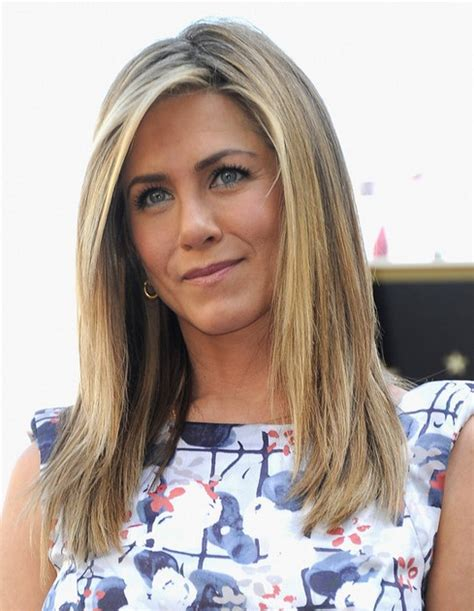 hair parting jennifer aniston long hairstyle straight haircut with