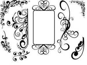 Flourish Frame Outline by Swirl Svg Hi Png Floral Design Elements Royalty Free Cliparts Products Scan N Cut