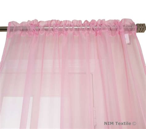 sheer light pink curtains light pink sheer voile curtains