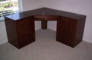 Corner Desk Blueprints Free Corner Computer Desk Woodworking Plans Woodplans