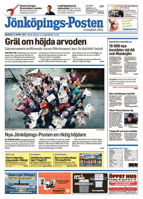 Skövde Nyheter Hallpressen News Flashes 2011 2012 Newspaper Design