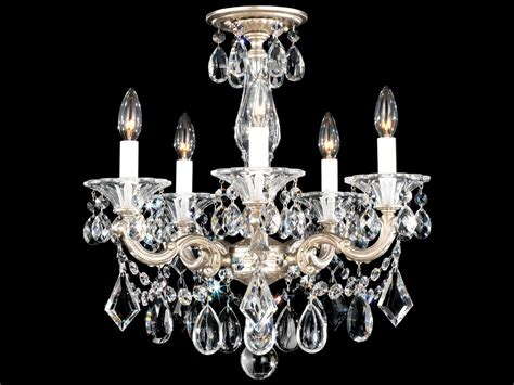 Schonbek Mini Chandelier Schonbek La Scala Five Light 18 Wide Mini Chandelier S55345