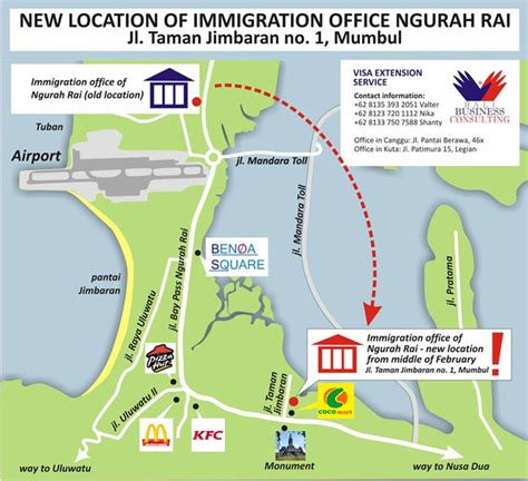 Uscis Office Locator by New Location The Immigration Office Of Ngurah Bali