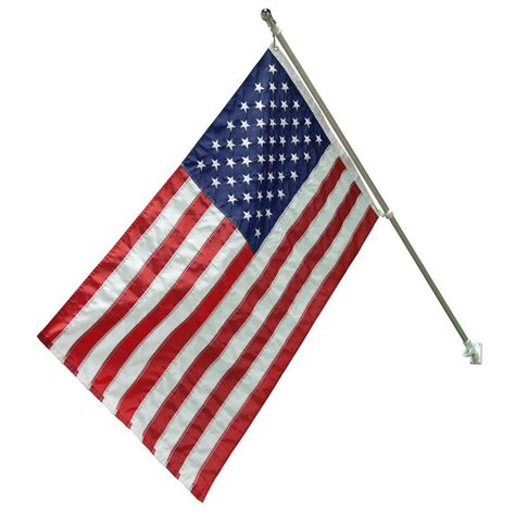 valley forge flag 5 ft brushed aluminum flagpole with