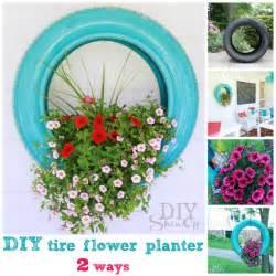 diy tire flower planter projects useful ideas