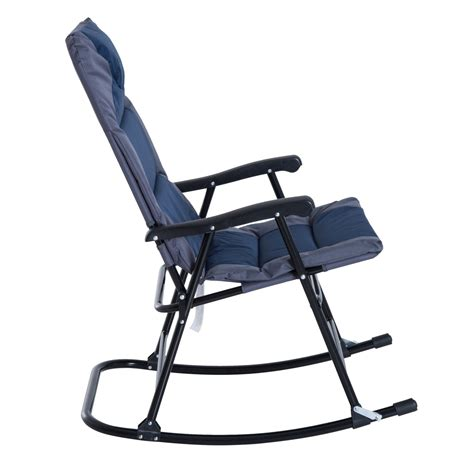 outdoor folding rocking chair outsunny 3 outdoor folding rocking chair and table
