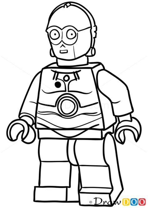 lego c3po coloring page how to draw c 3po lego starwars