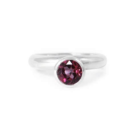 circle rhodolite garnet ring gemstone ring