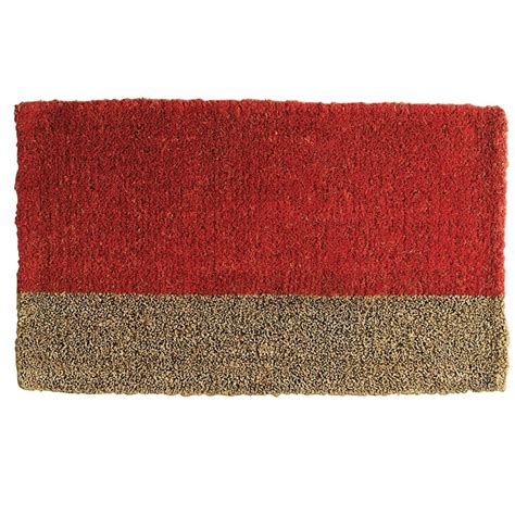 Tag Doormat tag two toned 18 in x 30 in coir door mat tag240003 the home depot