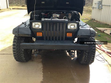jeep wrangler yj chevy  conversion lifted