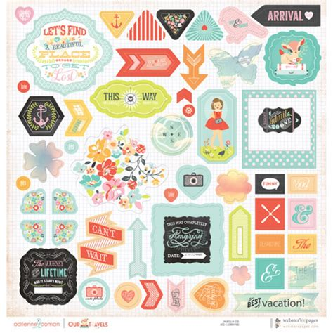top rated products scrapbookcom chipboard sticker board our travels our travels shop