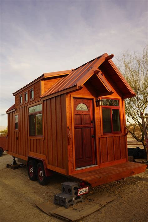 tiny home man builds craftsman style tiny house