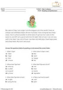 primaryleap co uk reading comprehension i am a tiger