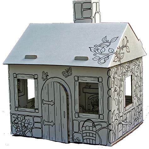 kartonnen huis kartonnen huisje david en luna verven kinderen waterverf