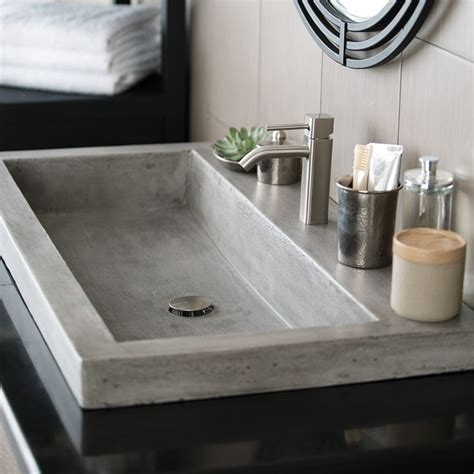bathroom trough sink 95 best bathroom sinks images on pinterest concrete