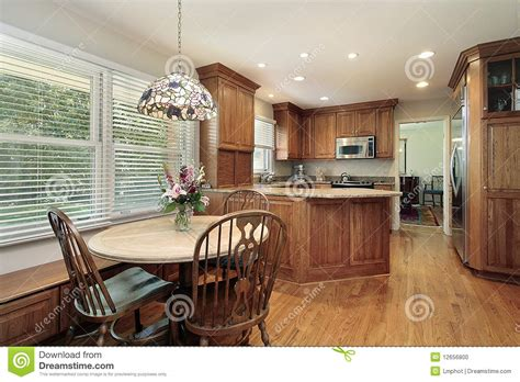 eating area wood cabinet kitchen and eating area stock photo image